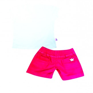 Conj. Short Unicolor y Camiseta Mariposas Ref. 4637